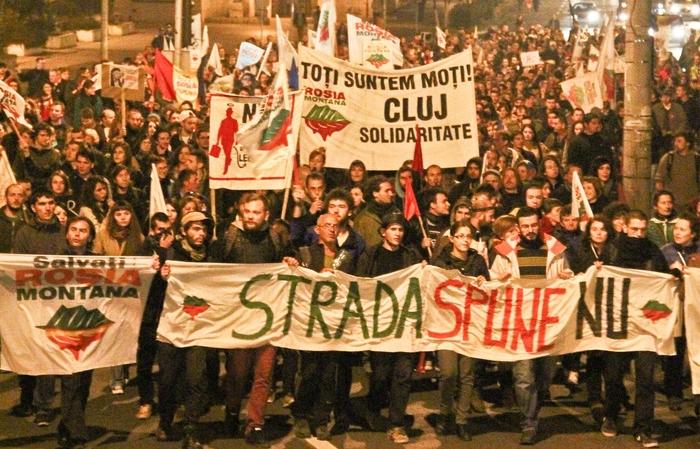 PROTEST CLUJ #10 // Roșia Montană // Cacealmaua continuă // 3 noiembrie