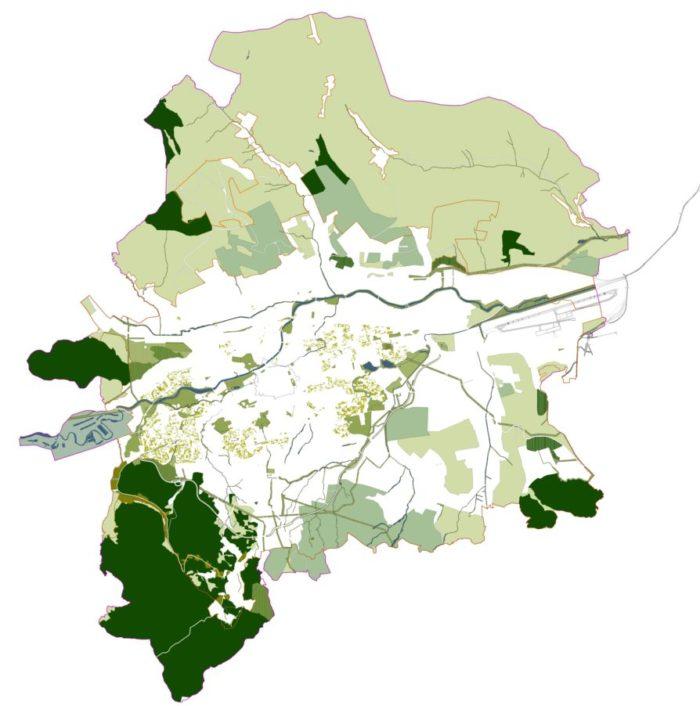 Rețeaua de spații verzi din Cluj