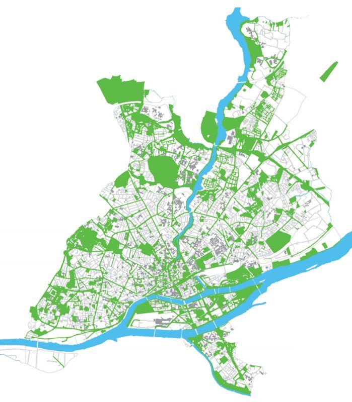 Rețeaua de spații verzi din Nantes, Franța