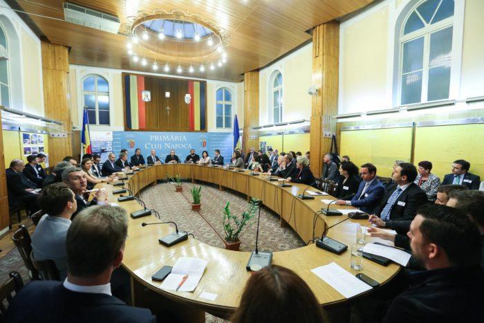 Primăria Cluj-Napoca la o întâlnire cu oameni de afaceri din oraș