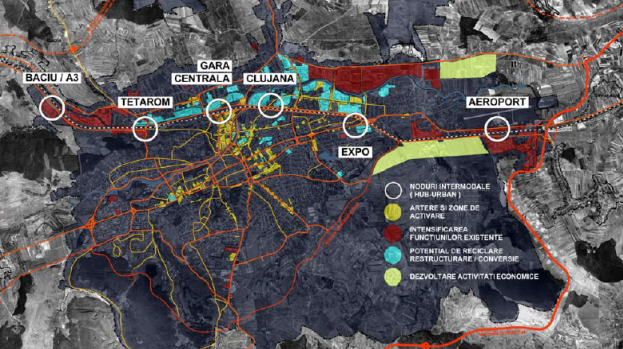 Areas proposed for investments in Cluj's Spatial Plan