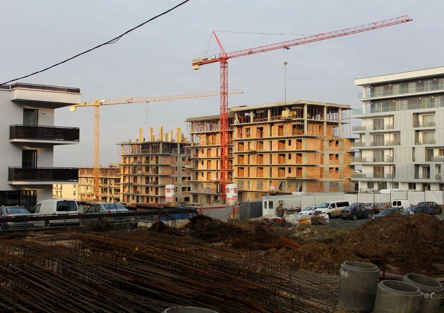 Șantiere în cartierul Bună Ziua, Cluj. Foto: Dan Bodea / Transilvania Reporter