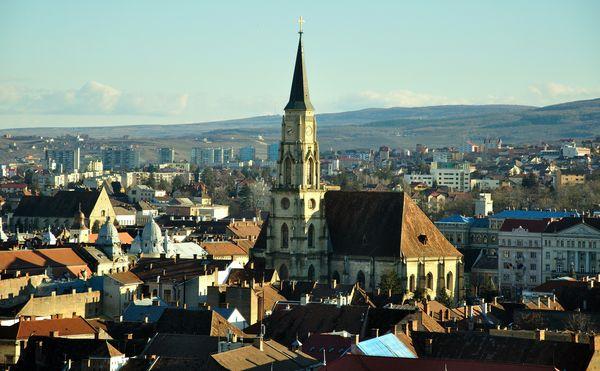 Cluj-Napoca, vedere de pe Cetatuie