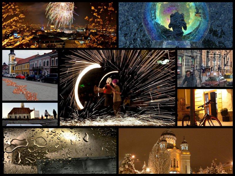 Colaj fotografii premiate la concursul Clusium, Urbe Nostrum