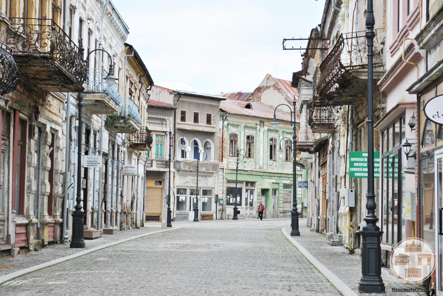 Zona centrală a municipiului Slatina.