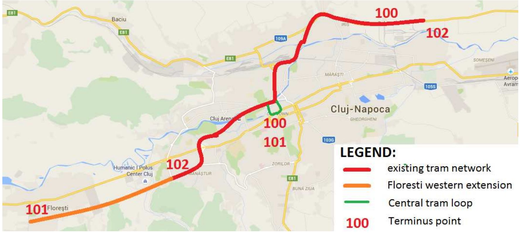 Extindere linie de tramvai spre Florești, conform PMUD