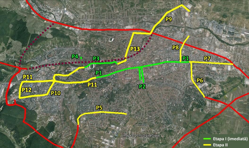 Cum ar trebui să fie extinsă rețeaua de benzi / căi dedicate pentru transportul public, conform PMUD