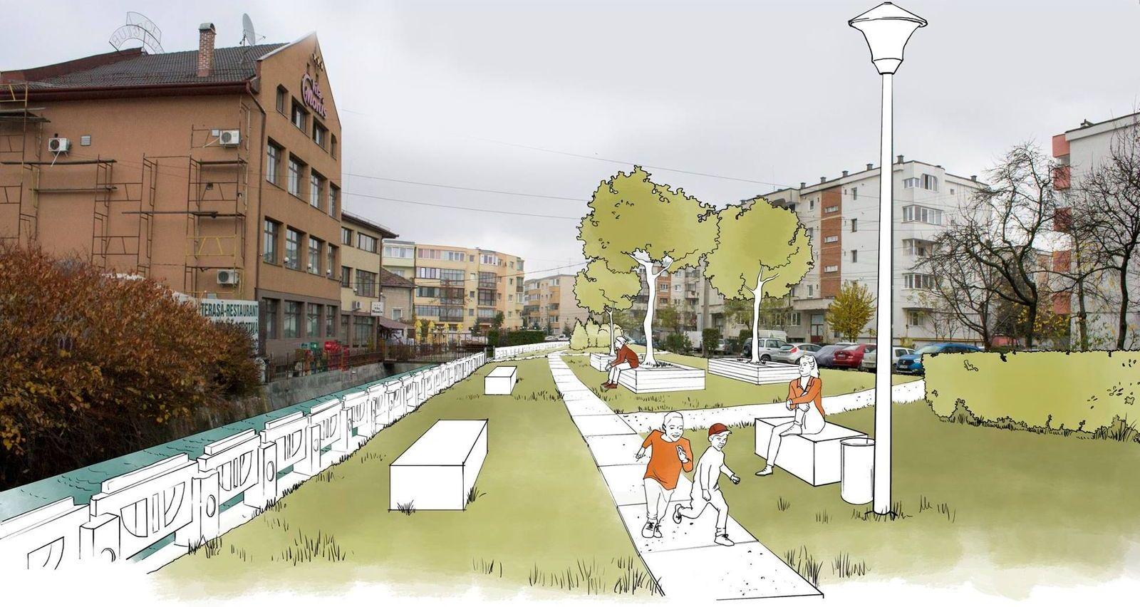 Propunerea echipei Verde pe Canalul Morii pentru amenajarea zonei din jurul Canalului Morii din Mărăști