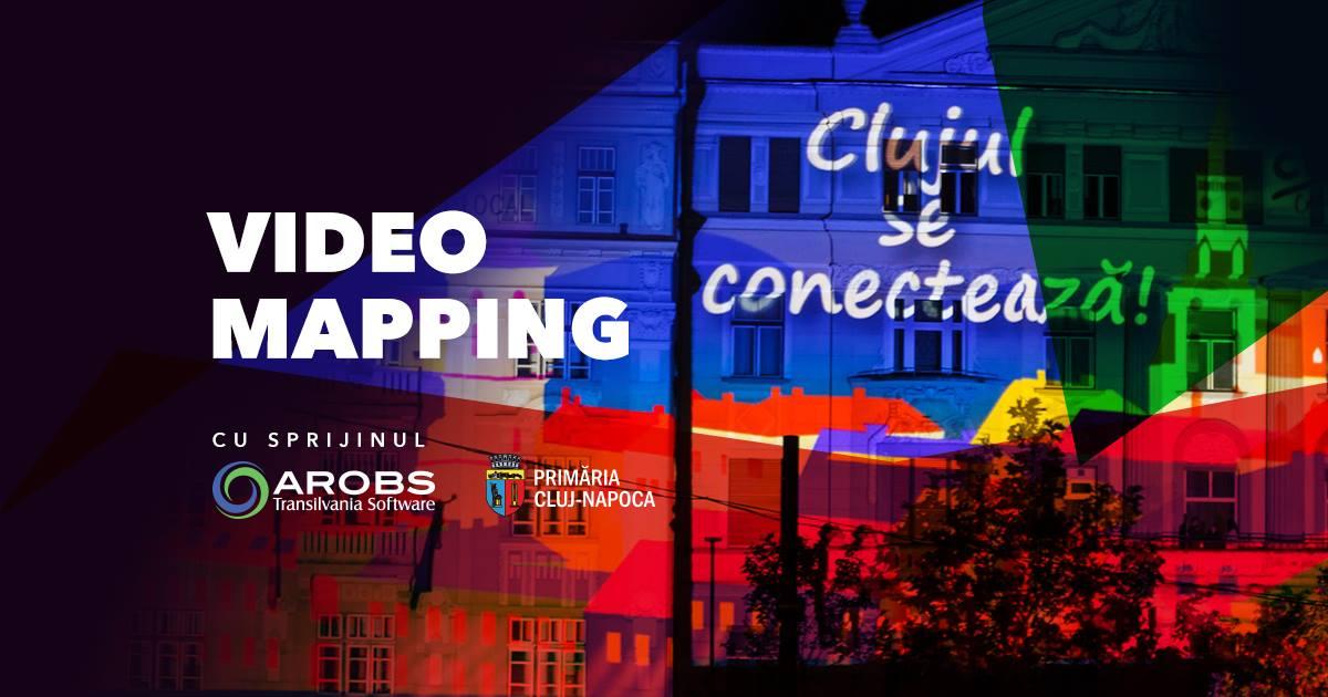 Proiecție de video mapping în Piața Unirii, vineri de la ora 22:50.